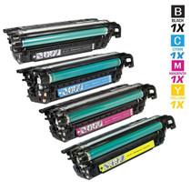 CS Compatible Replacement for HP 649X & 648A Toner Cartridge 4 Color Set (CE260X/ CE261A/ CE263A/ CE262A)