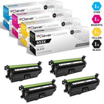 CS Compatible Replacement for HP 653A & 653X Toner Cartridges 4 Color Set/ (CF320X/ CF321A/ CF322A/ CF323A)