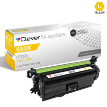 CS Compatible Replacement for HP CF322A Toner Cartridge Yellow/ HP 653A Toner