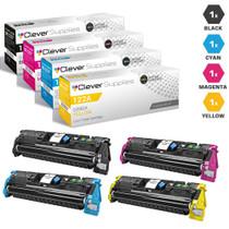 CS Compatible Replacement for HP 122A Toner Cartridges 4 Color Set (Q3960A/ Q3961A/ Q3962A/ Q3963A)
