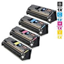 CS Compatible Replacement for HP 1500 Toner Cartridges 4 Color Set