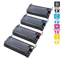 CS Compatible Replacement for HP 4610 Toner Cartridge Color Laserjet 4 Color Set