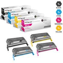 CS Compatible Replacement for HP 641A Toner Cartridges 4 Color Set/ (C9720A/ C9721A/ C9722A/ C9723A)