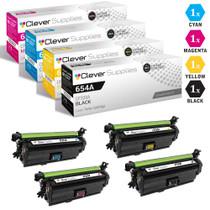 CS Compatible Replacement for HP 652A & 654A Toner Cartridge 4 Color Set (CF320A/ CF331A/ CF333A/ CF332A)