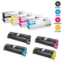 CS Compatible Replacement for HP 121A Color LaserJet Toner Cartridges 4 Color Set (C9700A/ C9701A/ C9702A/ C9703A)