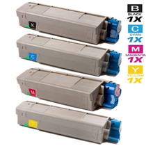 Compatible Okidata CX2032 Laser Toner Cartridges 4 Color Set