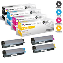 Compatible Okidata CX2032 MFP Laser Toner Cartridges 4 Color Set