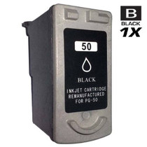 Compatible Canon PG-50 (0616B002) Ink Cartridge Remanufactured High Yield Black