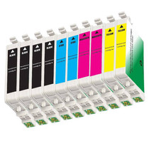 Compatible 10 PACK : EPSON T060 SERIES INCLUDES - 4 BLACK/ 2 CYAN/ 2 MAGENTA/ 2 YELLOW