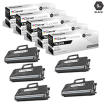 Compatible Brother TN360 Laser Toner Cartridge High Yield Black 5 Pack