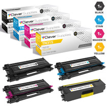 Compatible Brother TN315 Toner High Yield Cartridge 4 Color Set-(TN315BK/ TN315C/ TN315M/ TN315Y)