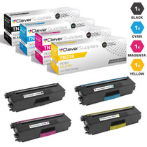 Compatible Brother TN336 Premium Quality Laser Toner Cartridge High Yield 4 Color Set (TN336BK/ TN336C/ TN336M/ TN336Y)