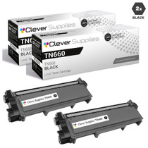Compatible Brother TN660 Toner Cartridge High Yield Black 2 Pack