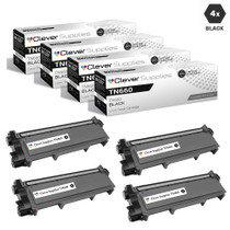 Compatible Brother TN660 Toner Cartridge High Yield Black 4 Pack