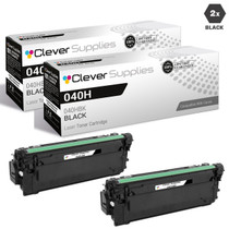 Compatible Canon 040H Toner Cartridges Black 2 Pack (040HBK)