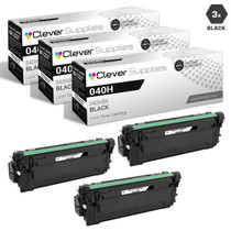 Compatible Canon 040H Toner Cartridges Black 3 Pack (040HBK)
