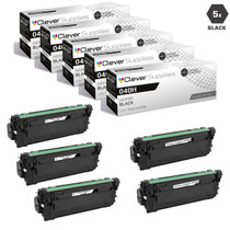 Compatible Canon 040H Toner Cartridges Black 5 Pack (040HBK)