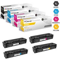 Compatible Canon 045H Toner Cartridges 4 Color Set (045HBK, 045HY, 045HM, 045HC)