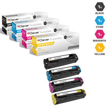 Compatible Canon ImageClass Color MF8280CW Toner Cartridge 4 Color Set (131BK, 131Y, 131M, 131C)