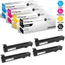 CS Compatible Replacement for HP 826A Toner Cartridges 4 Color Set (CF310A, CF311A, CF313A, CF312A)