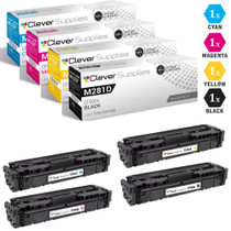 CS Compatible Replacement for HP M281dw Toner Cartridges 4 Color Set (CF500A, CF501A, CF503A, CF502A)