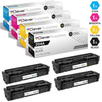 CS Compatible Replacement for HP 204A Toner Cartridges 4 Color Set (CF510A, CF511A, CF513A, CF512A)