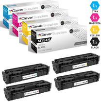 CS Compatible Replacement for HP M154nw Toner Cartridges 4 Color Set (CF510A, CF511A, CF513A, CF512A)