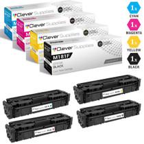 CS Compatible Replacement for HP M181fw Toner Cartridges 4 Color Set (CF510A, CF511A, CF513A, CF512A)