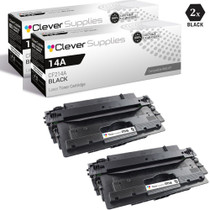 CS Compatible Replacement for HP 14A Toner Cartridges Black 2 Pack (CF214A)