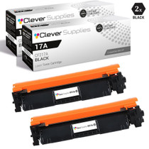 CS Compatible Replacement for HP 17A Toner Cartridges Black 2 Pack (CF217A)