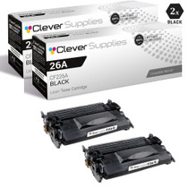 CS Compatible Replacement for HP 26A Toner Cartridges Black 2 Pack (CF226A)