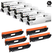 CS Compatible Replacement for HP 30A Toner Cartridges Black 5 Pack (CF230A)
