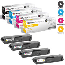 Compatible Brother TN433 Toner Cartridge 4 Color Set (TN433BK, TN433C, TN433M, TN433Y)