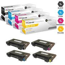Compatible Samsung CLP-515 Toner Cartridge 4 Color Set (CLP-510D7K, CLP-510D5C, CLP-510D5M, CLP-510D5Y)