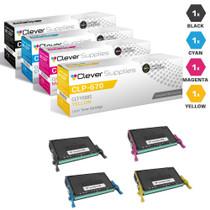 Compatible Samsung CLP-670 Toner Cartridge 4 Color Set (CLT-K508S, CLT-C508S, CLT-M508S, CLT-Y508S)