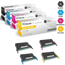 Compatible Samsung CLP-670N Toner Cartridge 4 Color Set (CLT-K508S, CLT-C508S, CLT-M508S, CLT-Y508S)