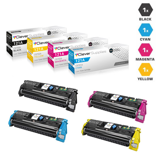 CS Compatible Replacement for HP 2500tn Toner Cartridges 4 Color Set