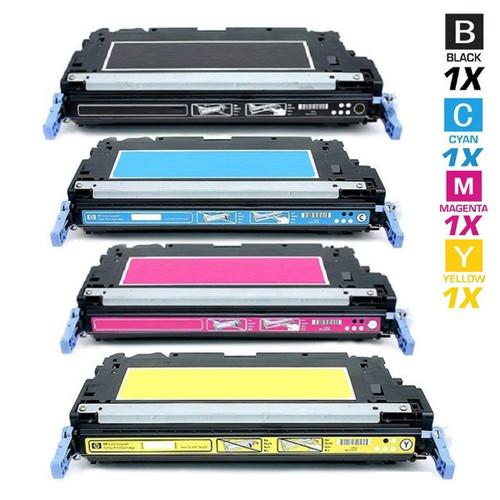 CS Compatible Replacement for HP 3800 Toner Cartridges 4 Color Set