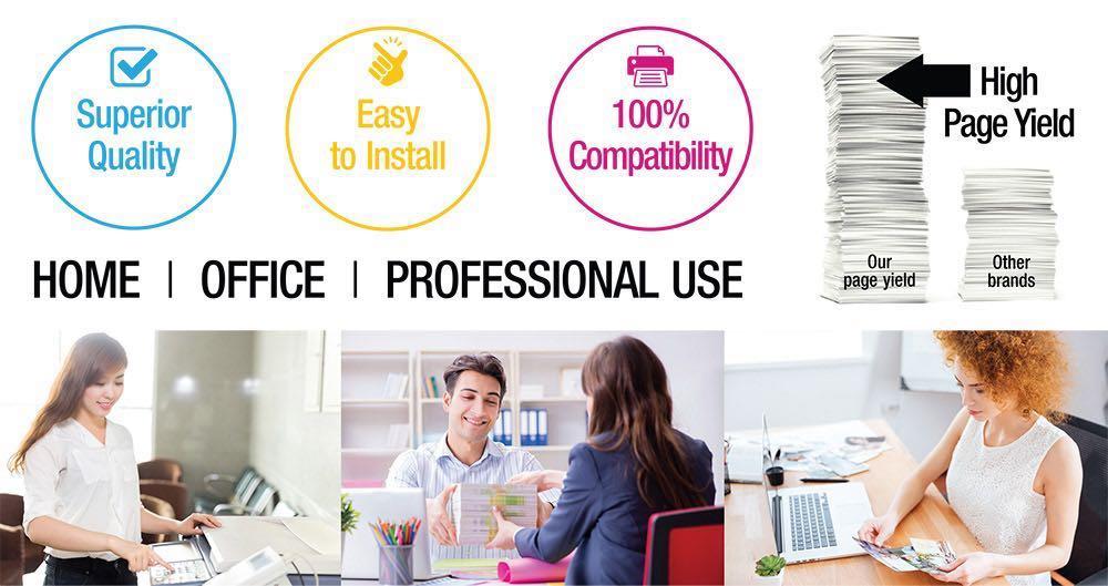 Toner Cartridges Color Set PRINTJETZ Premium Compatible Replacement for 4Pk HP 305A CE410A, CE411A, CE412A, CE413A // Bk, C, Y, M