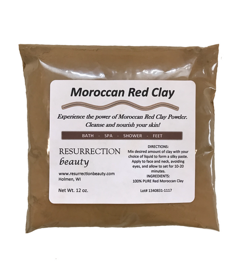 Red Moroccan Clay 12 oz. Package By RESURRECTIONbeauty