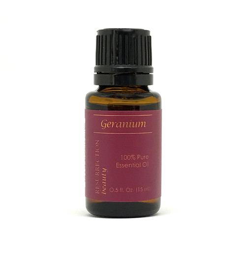 Geranium Essential Oil (Pelargonium x asperum), 100% Pure, 15 ml