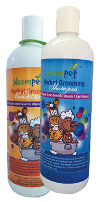 Lovely all natural grooming conditioner with all the benefits of nature. Helps maintain a normal, healthy skin and coat. Use in conjunction with our Herbal Grooming shampoo for a luxurious finish. Excellent for longer hair or woolly coats