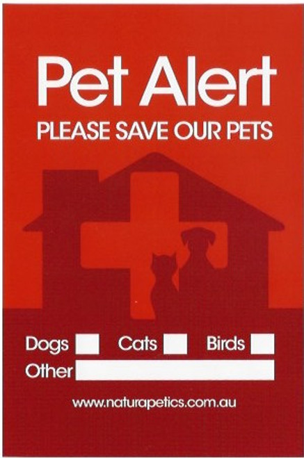 2-PACK PET ALERT STICKERS