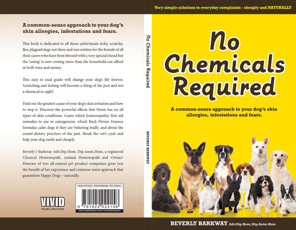 Hardcover . Do you want to know how to take the itch out of your dog forever? Do you want to find out the greatest cause of your dog's skin irritations and how to stop it, simply? Discover the powerful benefits of neem, learn which homeopathic first aid remedies to use in emergencies and which Bach Flower Essence formulas promote calm in dogs behaving badly.  Sound dietary practices of the past.  Written by a Homoeopath and Animal Homeopath, explore the benefits of years of experience, break the vet's cycle and help your dog easily and cheaply. Listen to ABC radio discussing the book  http://blogs.abc.net.au/queensland/2012/04/homeopath-treats-dogs-itchy-scratchy-skin-naturally.html