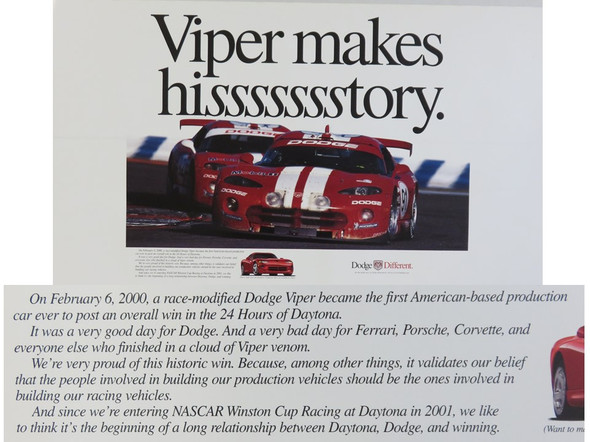 2000 Viper Makes Hisssssstory Poster