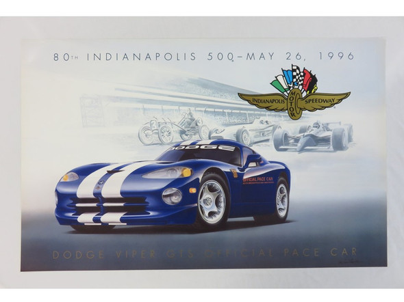 1995 Viper GTS Indy Poster