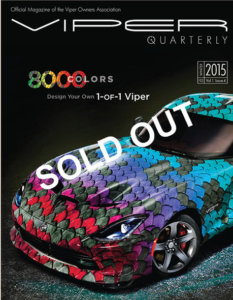 SOLD OUT! VIPER Quarterly 4