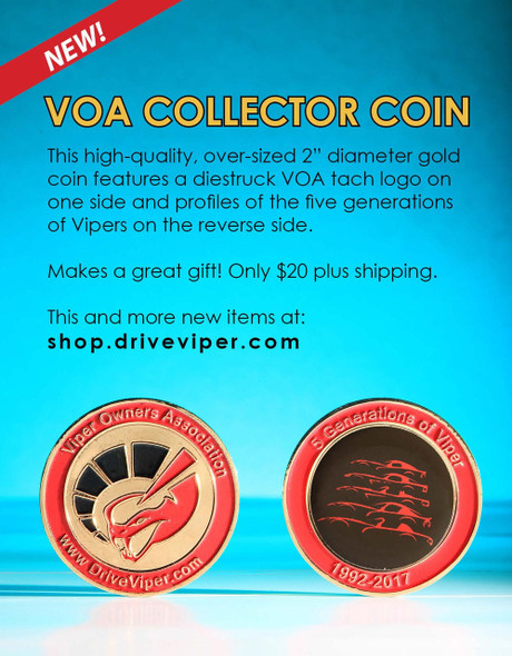 VOA OVER SIZED COLLECTOR COIN