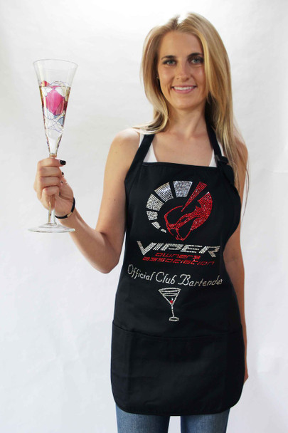 OFFICIAL CLUB BARTENDER BLING APRON