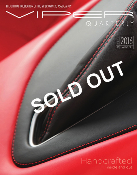 SOLD OUT! VIPER Quarterly 11